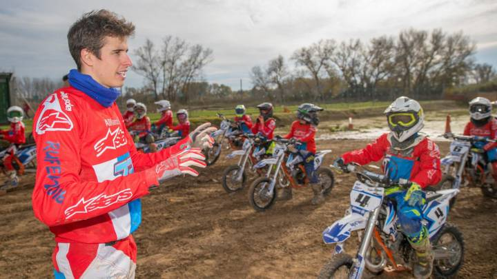 Álex Márquez en el Allianz Junior Motor Camp.