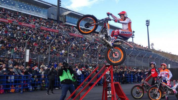 Toni Bou durante el Thanks Day de Honda en Motegi.