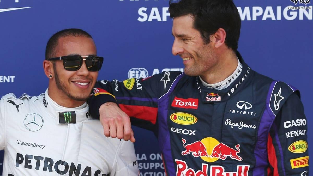 Hamilton y Webber en 2013.
