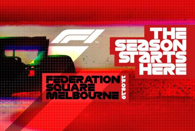 Cartel del evento en Melbourne.