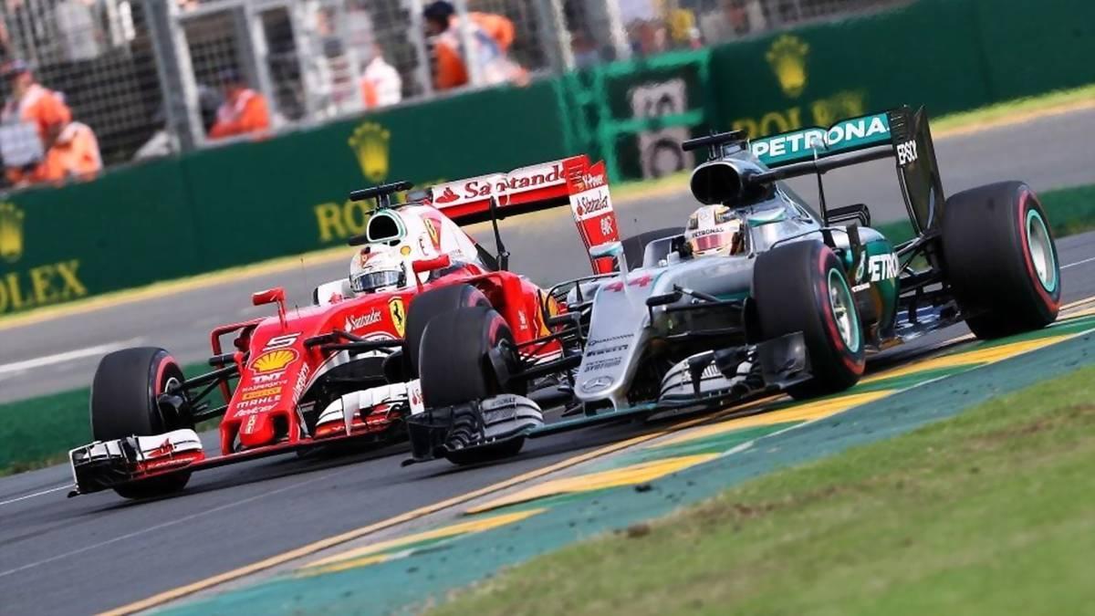 Vettel y Hamilton.