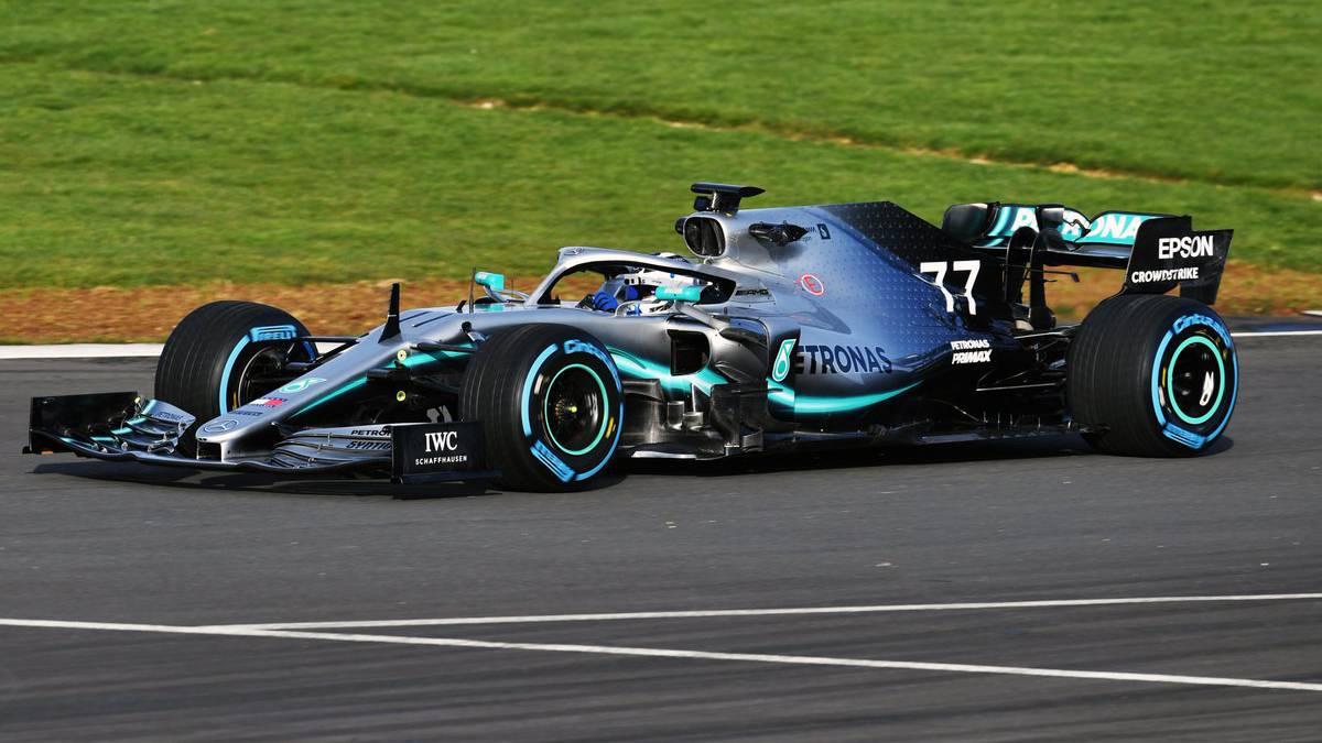 El Mercedes W10 del Mundial de F1 2019 en Silverstone.