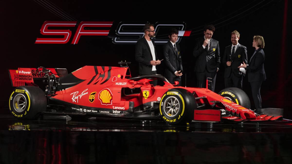 El Ferrari SF90 del Mundial de F1 2019.