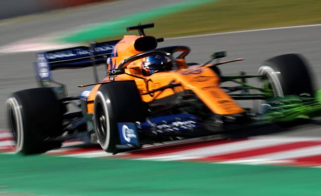 El McLaren MCL34 de Carlos Sainz, en Montmeló (Test F1 2019).