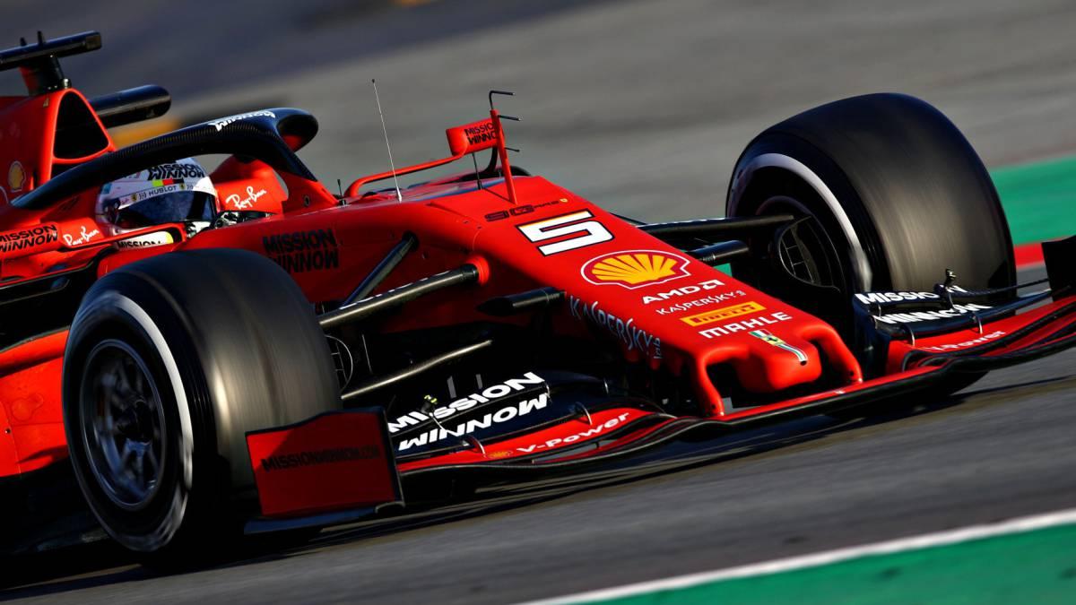 El alerón delantero del Ferrari de Vettel (F1 2019).