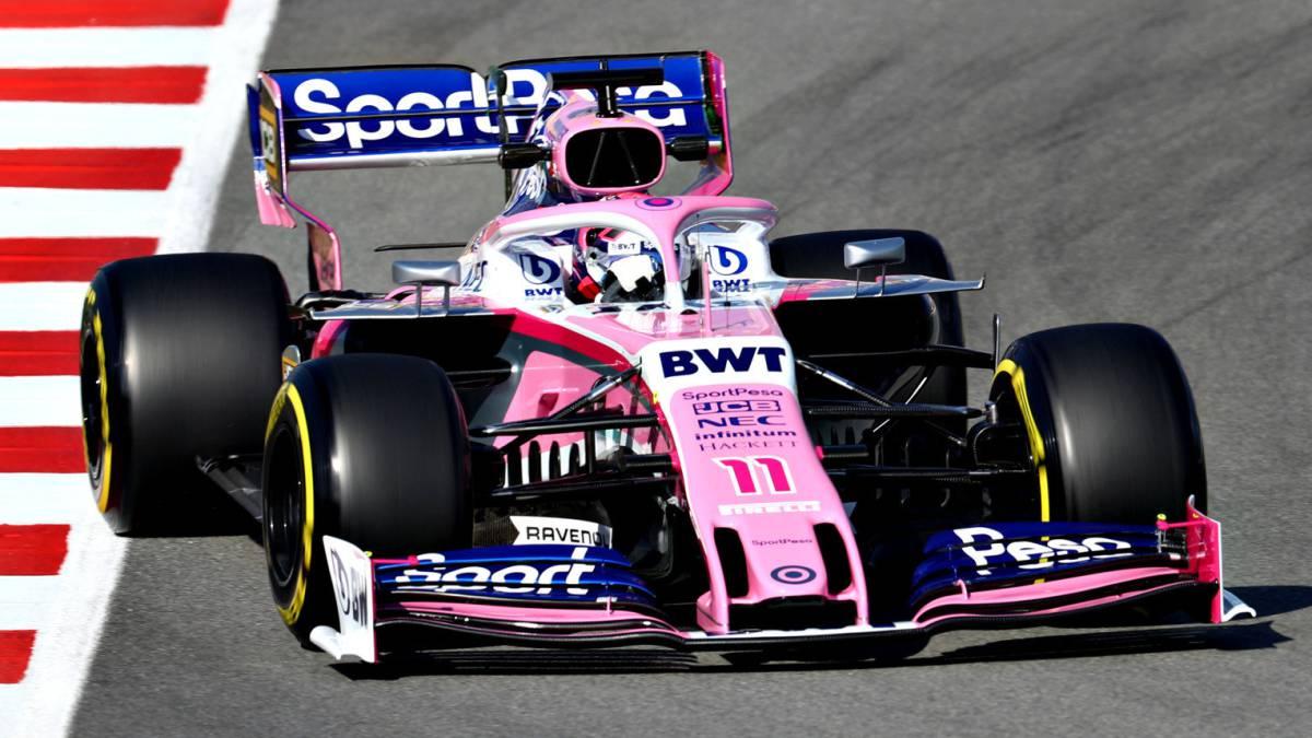 Resultado de imagen de Racing point f1 test Montmelo 2019