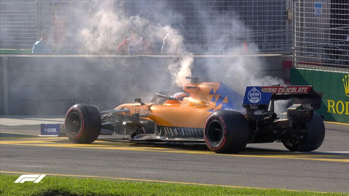 Carlos Sainz, abandono con McLaren (Australia, F1 2019).