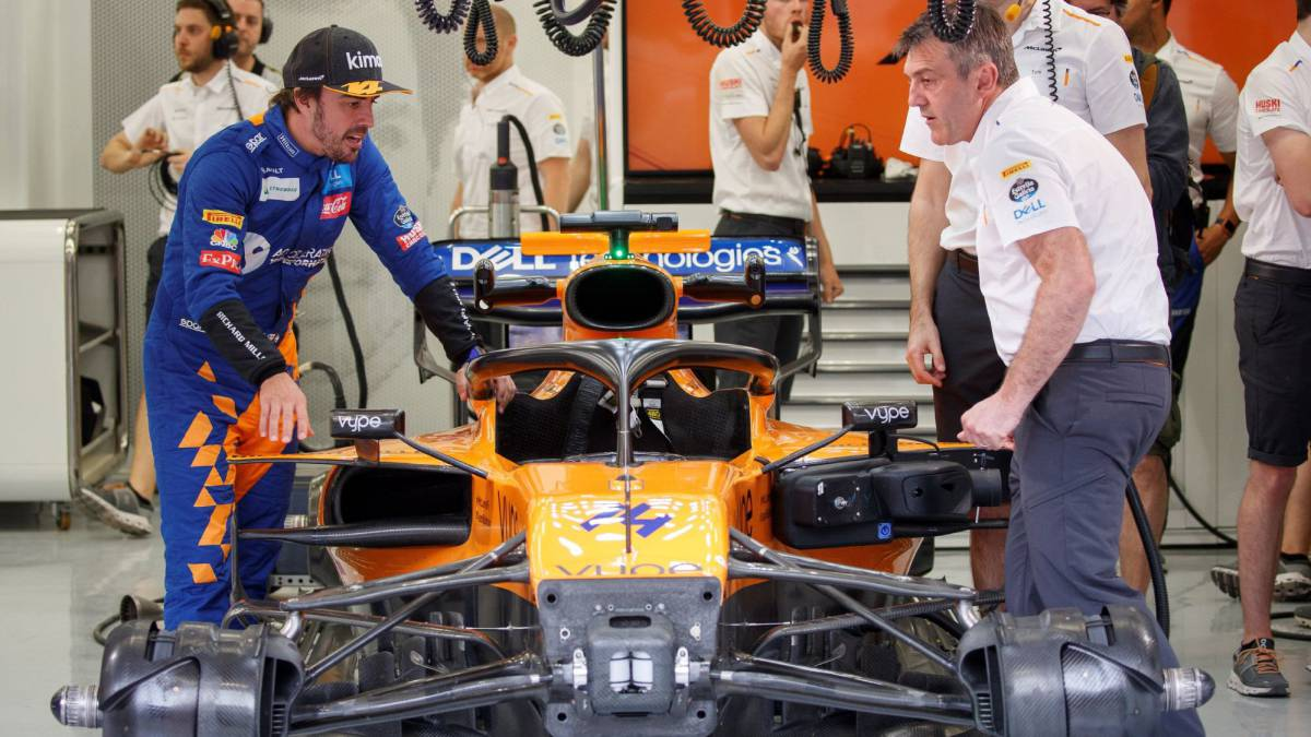 Fernando Alonso con el McLaren.