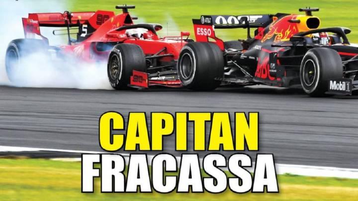 Italia sigue cebándose con Vettel.