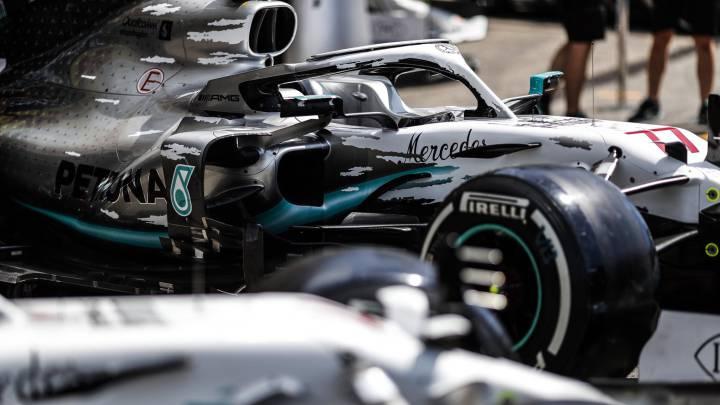 El Mercedes W10 de Hamilton y Bottas cambia de colores en el GP de Alemania. F1 2019.