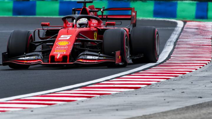 Sebastian Vettel, Ferrari SF90. F1 2019.