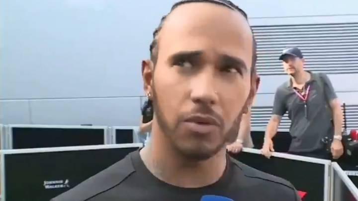 """Hamilton presenció el choque atendiendo a la prensa: """"¡Ay,ay!"""