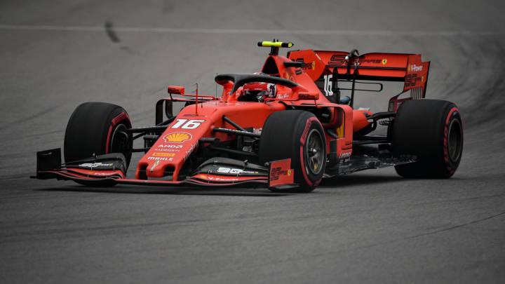 Charles Leclerc (Ferrari SF90). Sochi, Rusia. F1 2019.