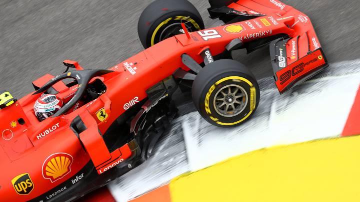 Charles Leclerc (Ferrari SF90). Rusia, F1 2019.