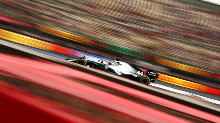 Lewis Hamilton (Mercedes W10). México, F1 2019.