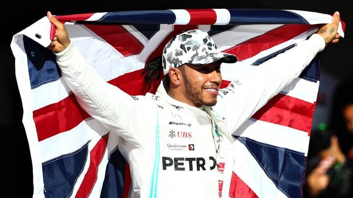 Lewis Hamilton, campeón del mundo de F1 2019 en Austin, USA.