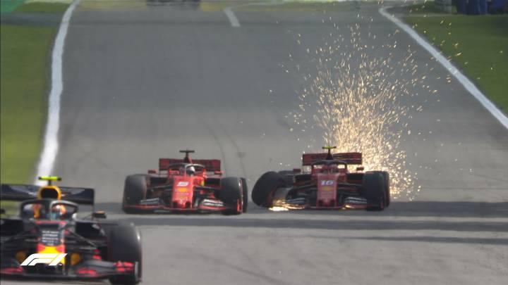 Nuevo incidente entre Vettel y Leclerc