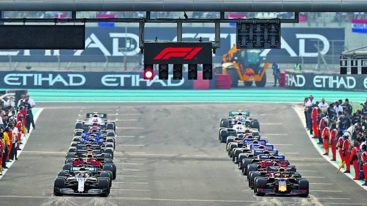 La parrilla del GP de Abu Dhabi de F1 2019.