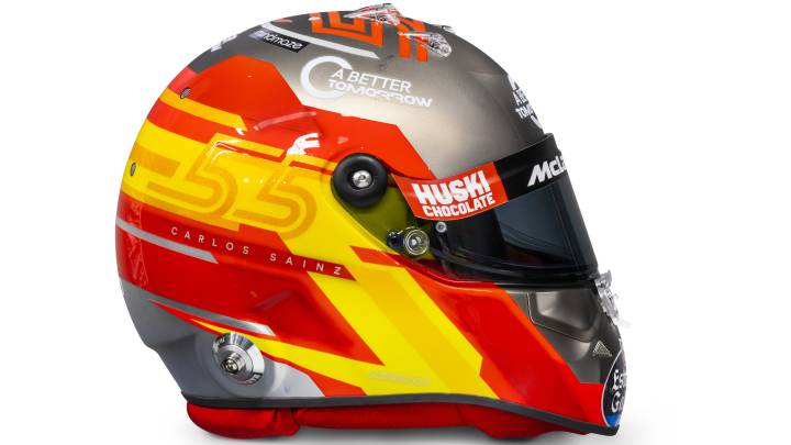 El casco de Sainz.