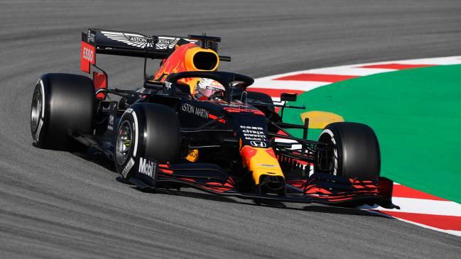 El Red Bull RB16 de Max Verstappen, en Barcelona. F1 2020.