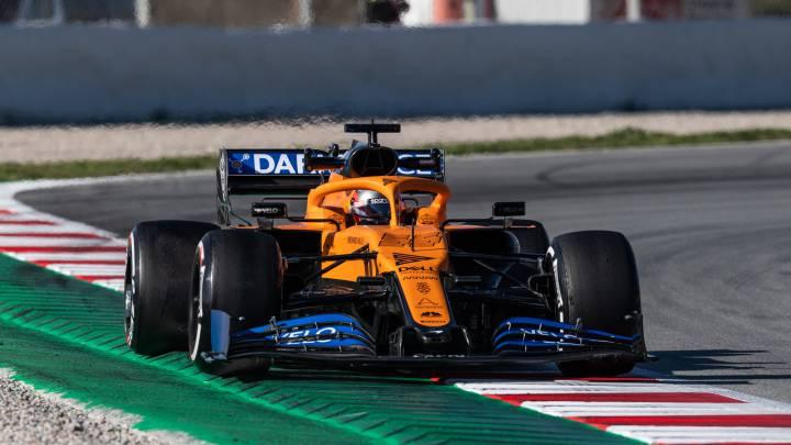 Carlos Sainz (McLaren MCL35). Test en Barcelona, F1 2020.