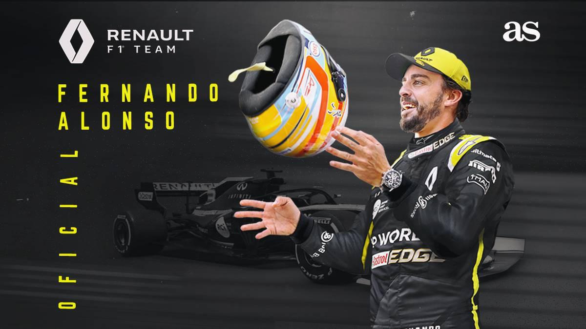 Fernando Alonso ficha por Renault.