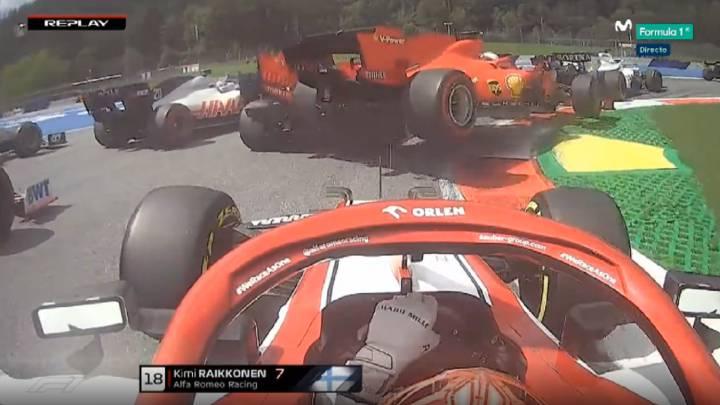 Los Ferrari se noquean a sí mismos con otro accidente