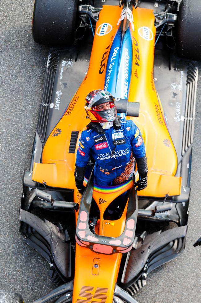 Carlos Sainz, en Monza 2020.