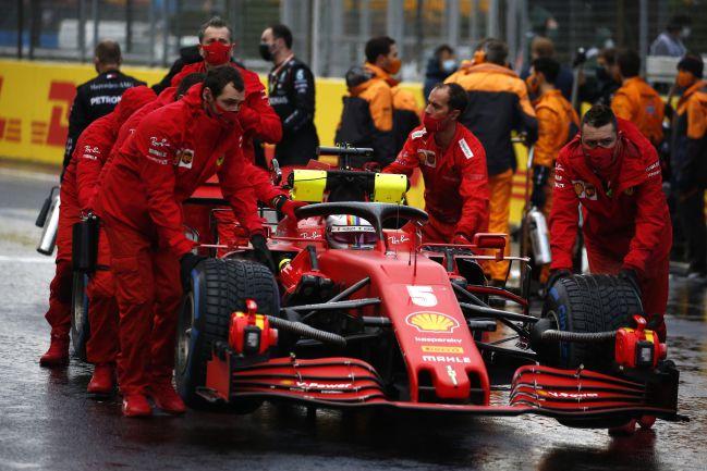 El Ferrari SF1000 de Vettel, en Turquía.
