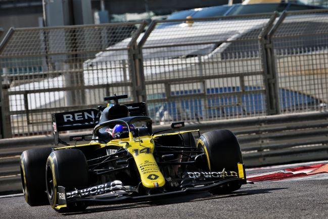 Fernando Alonso, en el test de Abu Dhabi.