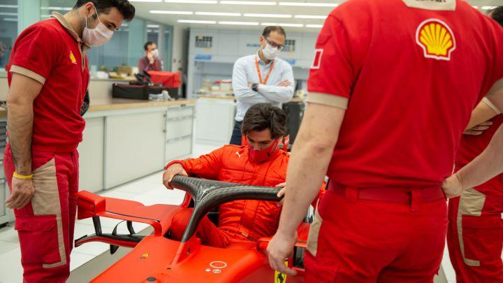 Carlos Sainz ya sabe cómo se siente en Ferrari