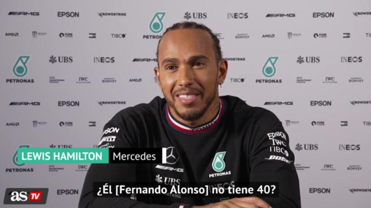 """El lío de Hamilton con la edad de Alonso: """"¿No tenía 40?"""""""