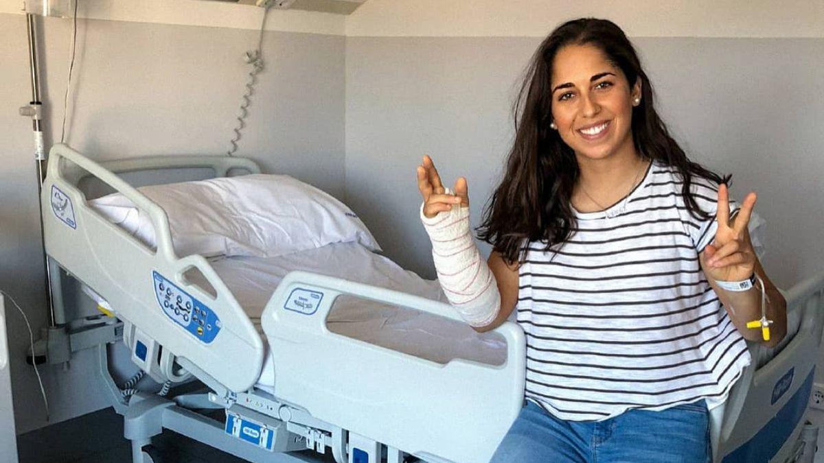 María Herrera, operada de síndrome compartimental
