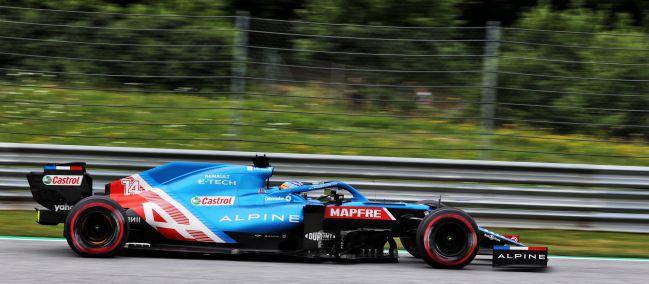Fernando Alonso (Alpine A521). Spielberg, Austria. F1 2021.