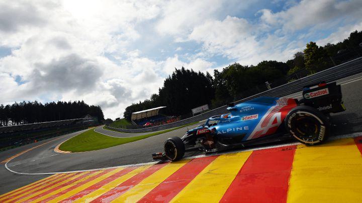 Fernando Alonso (Alpine A521). Spa-Francorchamps, Bélgica. F1 2021.