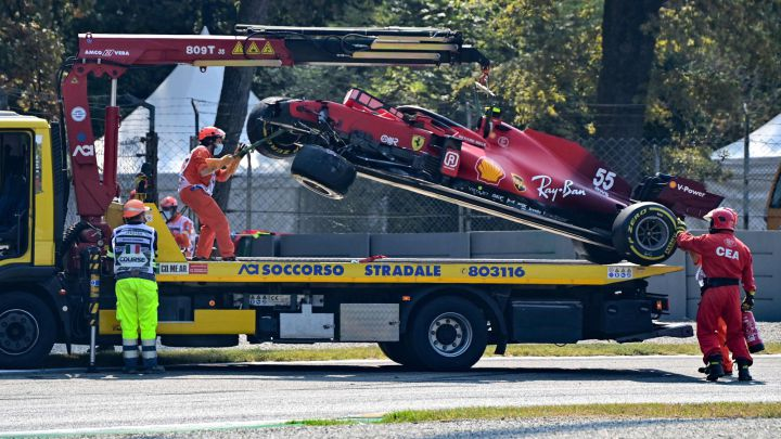 El Ferrari SF21 de Carlos Sainz. Monza, Italia. F1 2021.