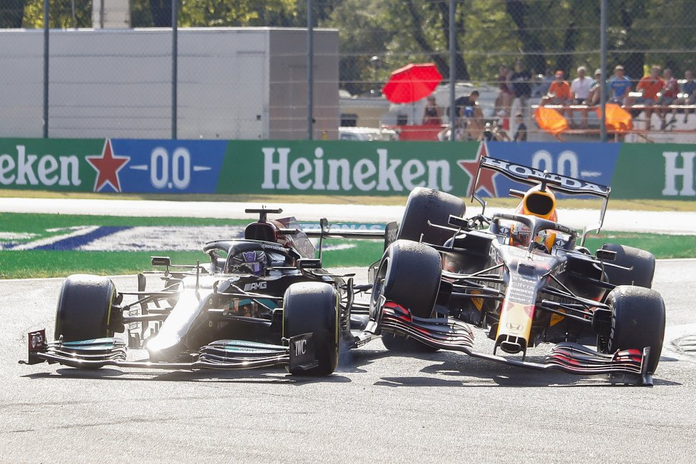 Accidente en Monza entre Verstappen y Hamilton