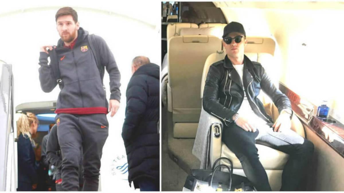 Así son los aviones privados de Messi y Cristiano.