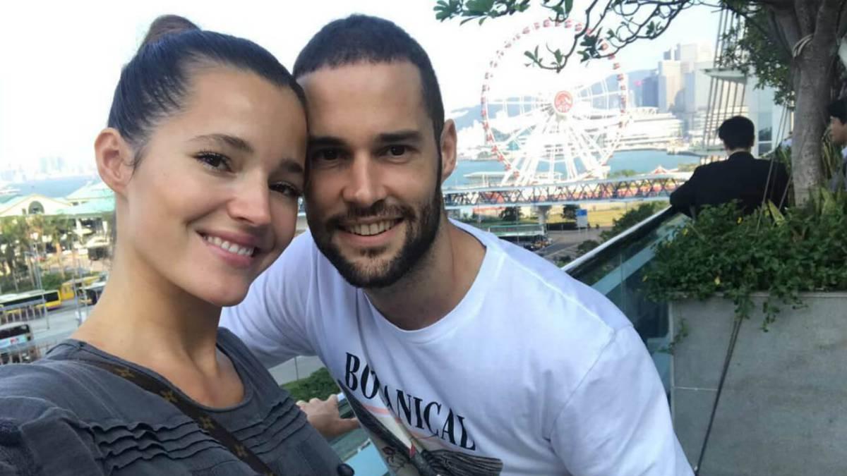 Malena Costa y su marido, el futbolista Mario Suárez.