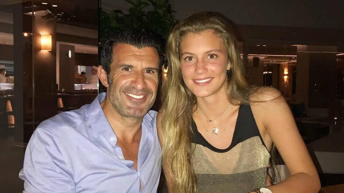 Luis Figo junto a su hija mayor.