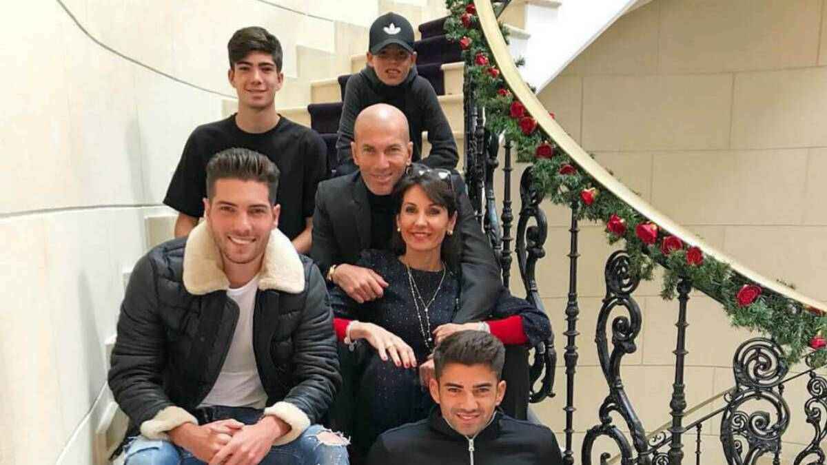 La familia de Zinedine Zidane.