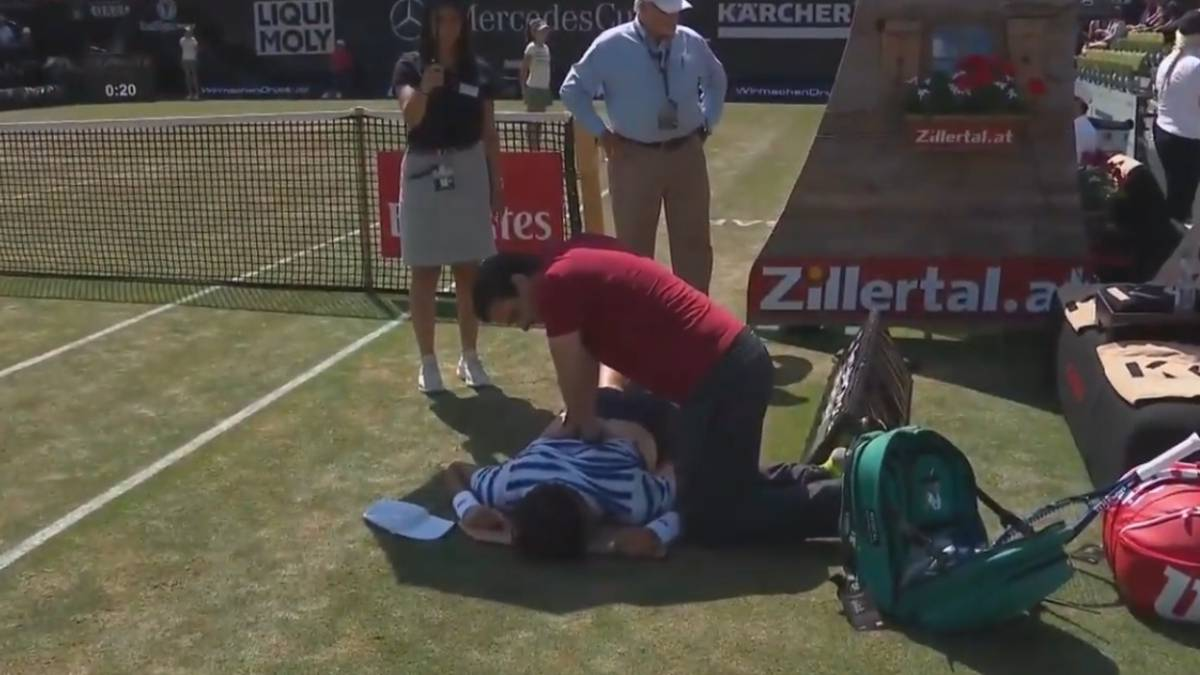 feliciano lopez medical time out