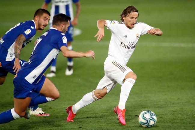 Modric, en el partido ante el Alavés del pasado viernes.