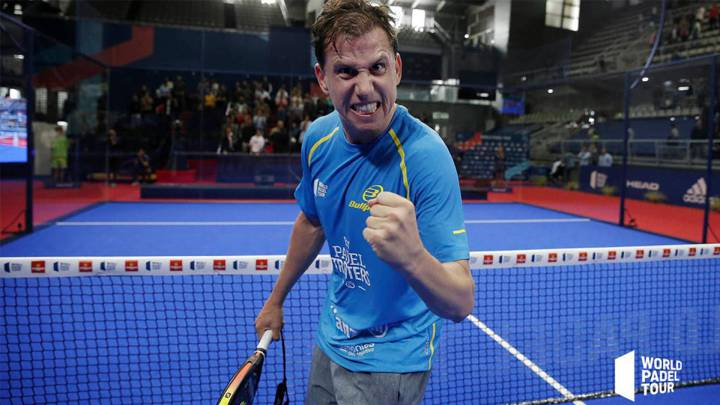 Paquito Navarro en el World Padel Tour.