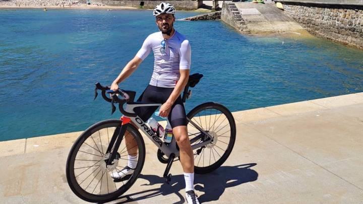 David Villa, un gran aficionado al ciclismo.