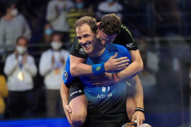 Paquito Navarro and Juan Martín Díaz during the final of the Spanish Championship.