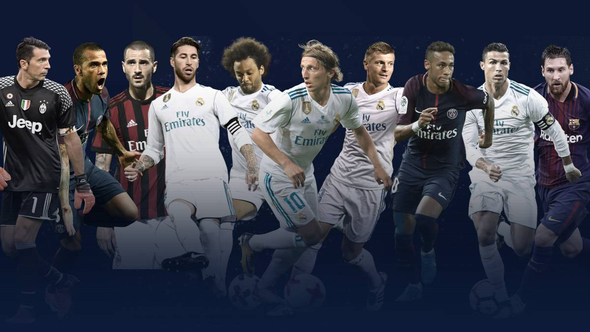 Cinco del Madrid y tres del Barça en el XI de los premios 'The Best'
