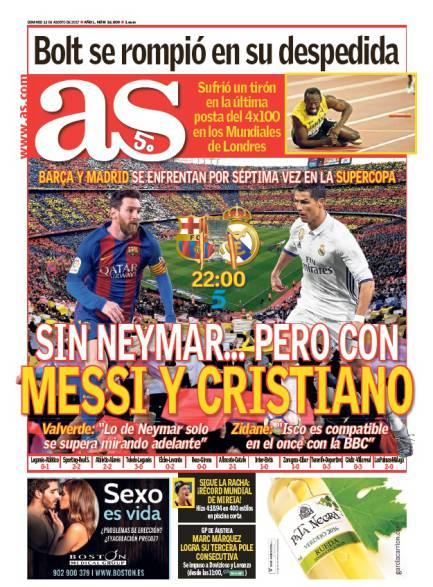 Sin Neymar... pero con Messi y Cristiano