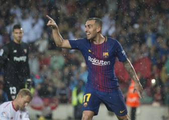 Alcácer to the rescue as Barca stumble over Sevilla