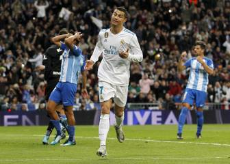 Ronaldo's second bite of the cherry sees Real pip Málaga